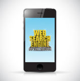 Phone web search engine optimization sign Stock Photos