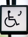 Phone for wheelchair users (1) Royalty Free Stock Photo