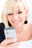 Phone woman Royalty Free Stock Photography
