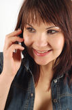 Phone woman #14 Royalty Free Stock Photography