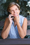 phone woman Στοκ εικόνα με δικαίωμα ελεύθερης χρήσης