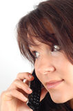 Phone woman #7 royalty free stock image