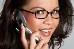 Phone Woman Smiling. Filipino business phone woman smiling Stock Photos