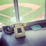 Phone at the Wrigley Field Royalty Free Stock Photo