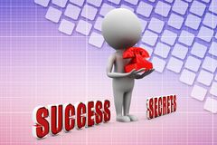 Phone your success secrets illustration Royalty Free Stock Images