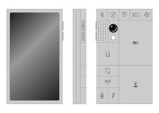 Phonebloks. A smart phone concept with replaceable blocks Stock Photography