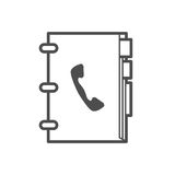 Phonebook icon. Outline phonebook icon , vector illustration for web design etc Stock Photography