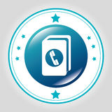 Phonebook Line icon Royalty Free Stock Images
