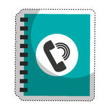 phonebook service isolated icon Royalty Free Stock Photos