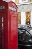 phonebooth красная Великобритания london детали Стоковое Изображение