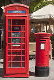 Phonebox and Letter Pillar Royalty Free Stock Image