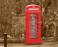 Phonebox sephia Royalty Free Stock Photo
