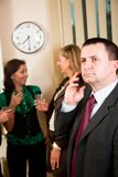 Phonecall alla riunione Fotografie Stock