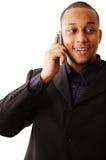 Phonecall felice Immagini Stock Libere da Diritti