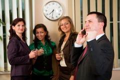 Phonecall at meeting Royalty Free Stock Photo