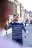 Phonecall nella città Fotografia Stock Libera da Diritti