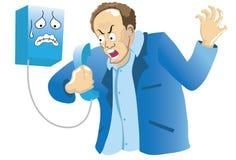 Phoneman arrabbiato illustrazione vettoriale
