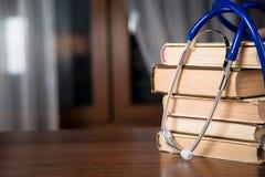 Phonendoscope, books Stock Photos