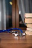 Phonendoscope, books Royalty Free Stock Image