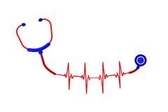 Phonendoscope ECG иллюстрация штока