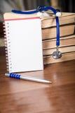 Phonendoscope. medical records, books Stock Image