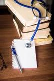 Phonendoscope. medical records, books Royalty Free Stock Photos
