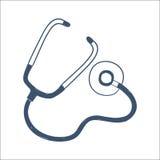 Phonendoscope, stethoscope isolated on white. Stock Images