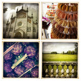 Phoneography. Collage - photos taken with mobile phone royalty free stock images