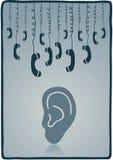 Phones. An illustration of stylized telefon symbol of communication Stock Photo