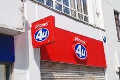 Phones 4U store Stock Photography