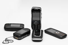 Phones. Mobile phones on neutral background Stock Photography