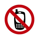 Phones banned Royalty Free Stock Photo