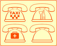 Phones icon for hotel services Stock Photos