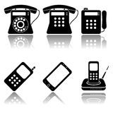 Phones icon set Royalty Free Stock Photography