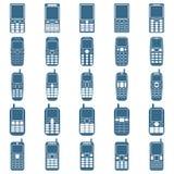 Phones icon vector set Royalty Free Stock Photos