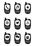 Phones icons Stock Photo