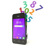 Phones and Numbers Design Royalty Free Stock Photos