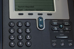 Phones. A phone in the office with dial buttons Royalty Free Stock Image