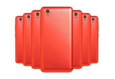 phones red Royaltyfria Bilder