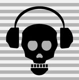 phones skull Στοκ Εικόνα