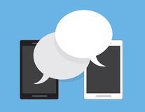Phones Speech Bubbles Royalty Free Stock Photography