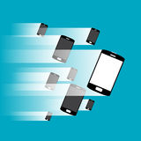 Phones at Speed royalty free illustration