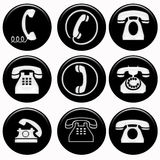 Phones symbols Royalty Free Stock Photography