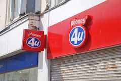 Phones 4U store, Hastings Royalty Free Stock Images
