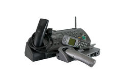 Phones wireless and modem Stock Images