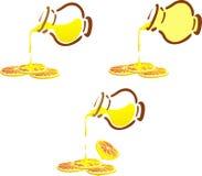 Phoney pot and lemon cloves Stock Photography