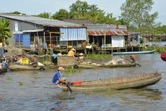 Phong Dien浮动的市场 免版税库存照片