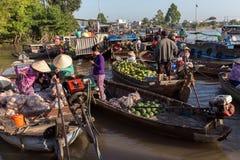Phong Dien floating marker in Vietnam Stock Images