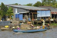 Phong Dien Floating Market Royalty Free Stock Photo