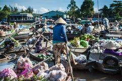Phong Dien Spławowy rynek Obraz Royalty Free